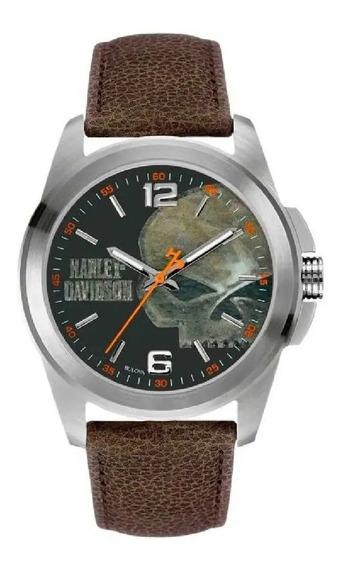 Relógio De Pulso Masculino Harley Davidson Wh30519t