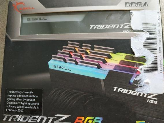 Memória Ram G.skill Trident Z Rgb 32gb (4x8) 3200mhz