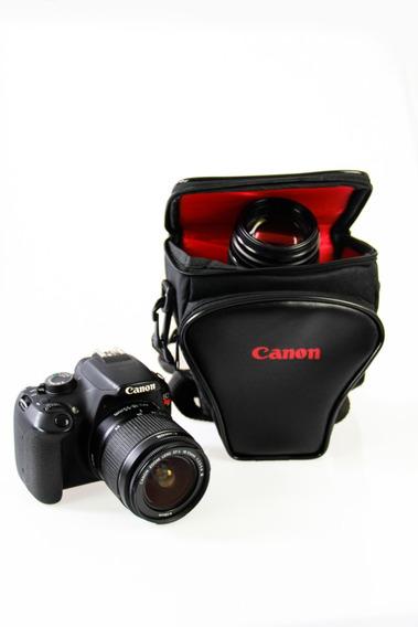 Bolsa Triangulo Canon Para Cameras Dslr T5 T5i T6 T6i T7 T7i