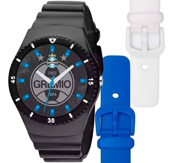 Relógio Technos Masculino Troca Pulseiras Do Grêmio Gre2035a