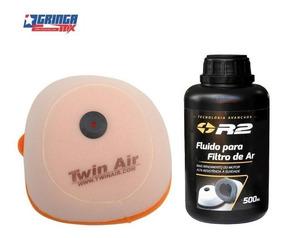 Filtro De Ar Ktm 250 Sx-f Twin Air + Oleo Filtro R2 500ml
