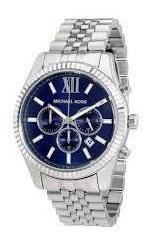 Relógio Michael Kors Mk8280 Prata Azul Unissex