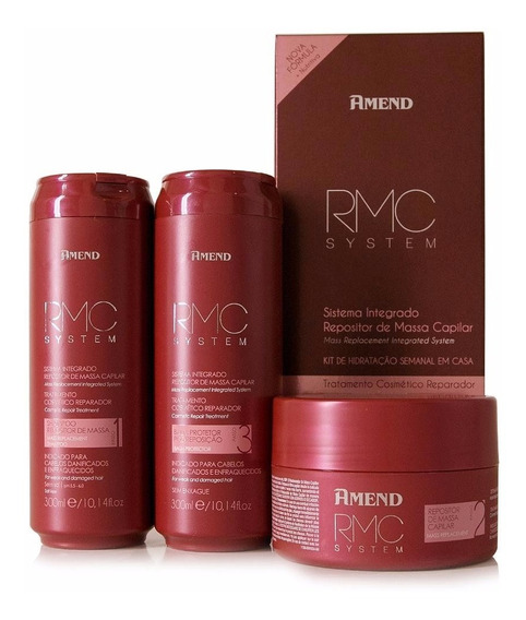 Kit Amend Rmc System Tratamento Cosmetico Repositor De Massa