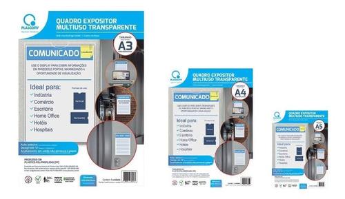 Kit C/3 Quadro De Avisos A3 A4 A5 Display Office Plascony