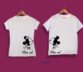 Playera Para Parejas Micky Mouse Personalizado Sublimación