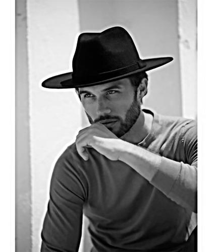Sombrero Fedora De Moda Ala Plana En Paño
