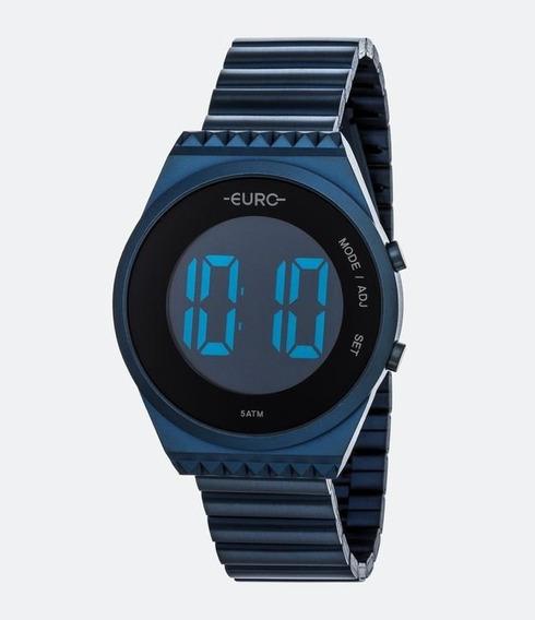 Relógio Euro Fashion Fit Slim Feminino Azul Eubjt016ad/4p