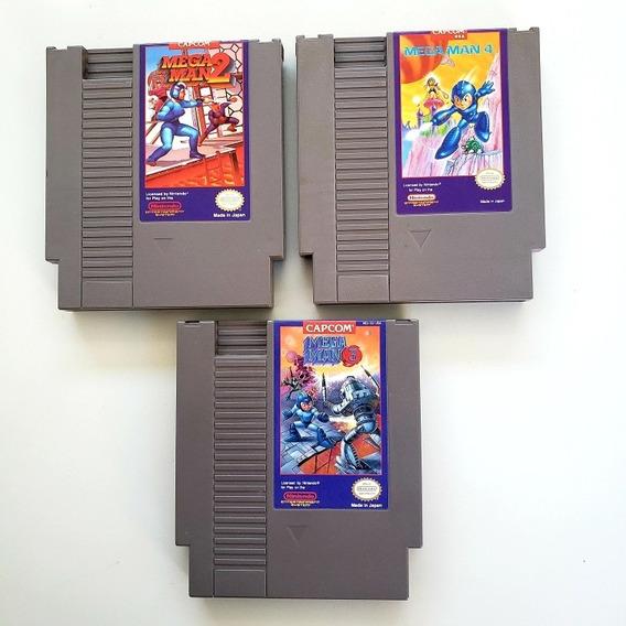 Lote Mega Man 2 3 4 Original Nes Nintendinho