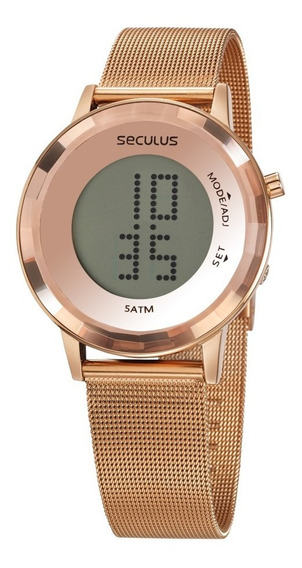 Relógio Feminino Seculus Digital Rose 77046lpsvrs2 Garantia
