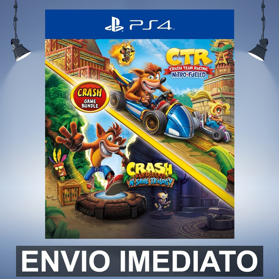 Crash Bandicoot Trilogy + Ctr - Ps4 Código 12 Dígitos