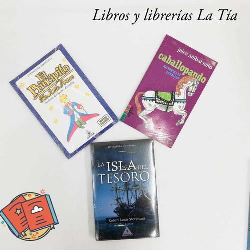Imagen 1 de 2 de Libros: El Principito+ La Isla Del Tesoro+ Caballopando