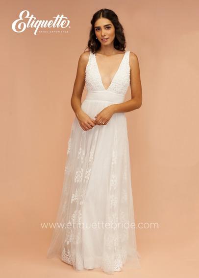 Vestido De Novia Para Boda Civil Blanco Económico Bonito