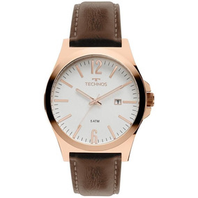 Relógio Technos Masculino Ref: 2115mmu/5b Social Rosé