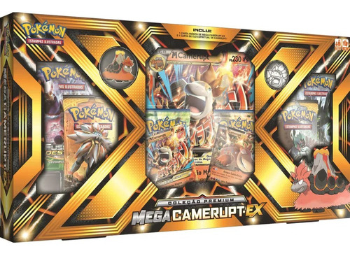 Box Premium Pokemon Trading Card Tcg Game Mega Camerupt Ex