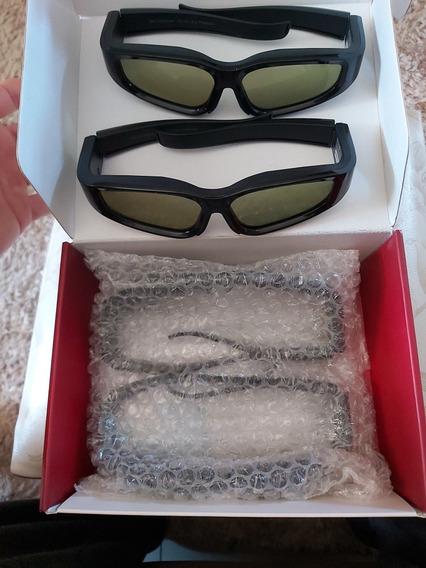 4 Peças Óculo 3d Ativo LG Com Bateria Recarregável Novo