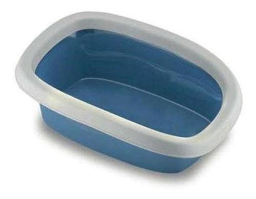 Caixa De Areia Para Gatos Bandeja Sanitária Azul