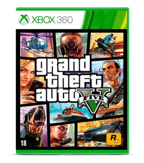 Grand Theft Auto V Gta 5 Mídia Física Xbox 360 Original Novo