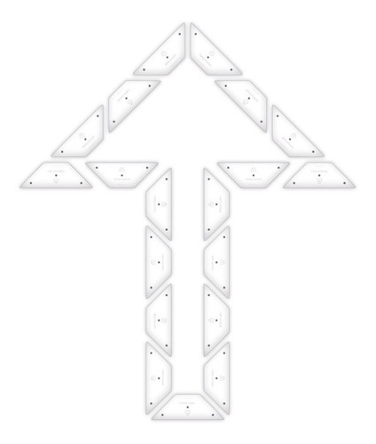 Imagen 1 de 7 de Kit Demarcación Flecha Doble Recta Placa No Pintura Vial