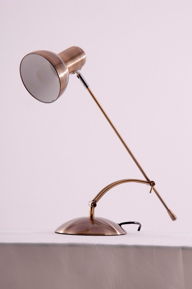 Luminaria De Mesa Flexivel Ouro Velho (escovado)