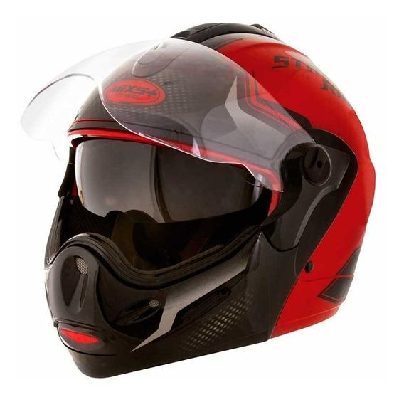 Capacete Moto Articulado Mixs Captiva Street Rider Vermelho