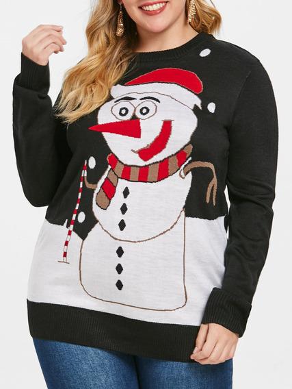 Disfraz Decoración Navidad Suéter Casual Dama Playera Fiesta