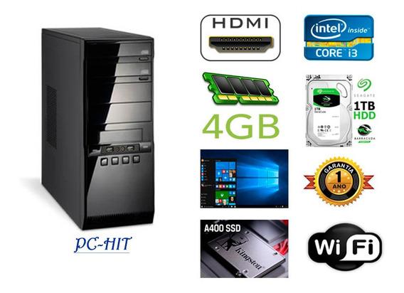 Cpu Intel Core I3 Com 4gb Ram, Ssd, Fonte, Wi-fi, Hdmi E W10
