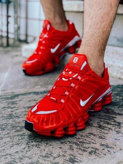 Tênis Masculino Nike Shox 12 Molas Preto Original Frete G