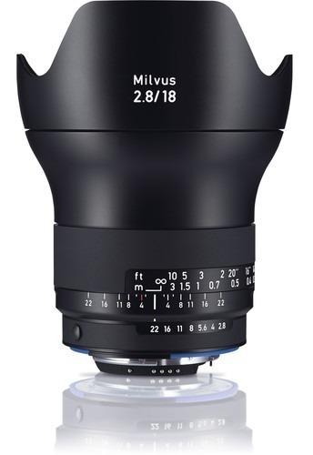 Zeiss Milvus 18mm F/2.8 Lente Para Canon Ef E Nikon F