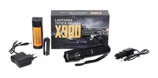 Lanterna De Led Tática Profissional X900 Com Sinalizador