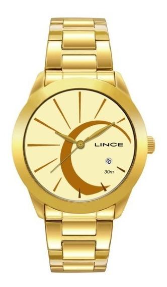 Relógio Lince Feminino Dourado 27335