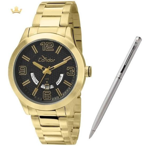 Relógio Condor Masculino Co2115wp/4p + Brinde Caneta Crown