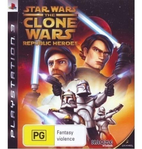 Jogo Star Wars The Clone Wars Republic Heroes Ps3 M. Fisica