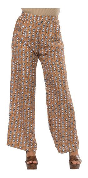 Pantalon Dama Ancho Flojo Amplio Moda Estampado Resorte