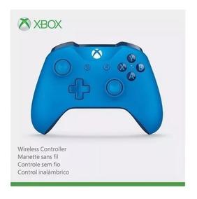 Controle Xbox One S Slim Wireless Azul Original Entrada P2