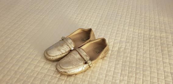 Calzado Dorado Zara Nena Talle 32