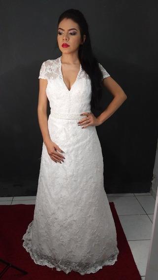 Vestido De Noiva Renda Com Bojo