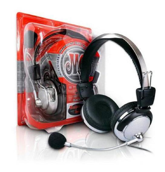 Fone De Ouvido Headset Gamer Para Pc Magena Sm-301m Estúdio