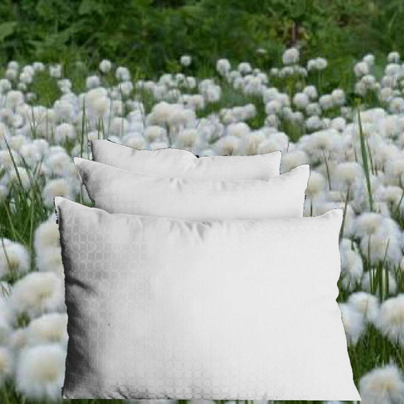 3 Almohadas Organica Ext:100% Algodón; Int: Microgel 900gr