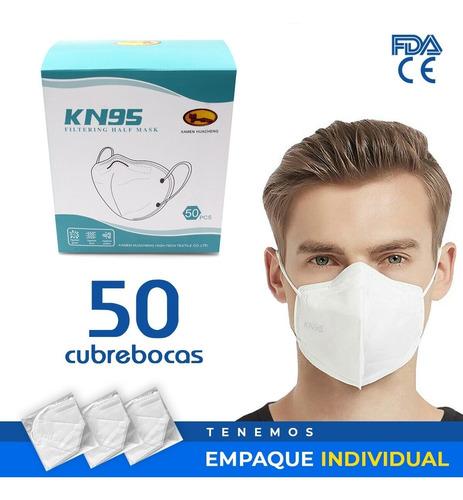 Cubrebocas Kn95 Tapabocas 50 Piezas Reutilizables 5 Capas