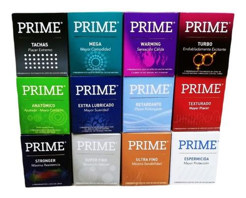 Imagen 1 de 2 de Preservativos Prime Surtidos 24 Cajitas X 3 Preservativos