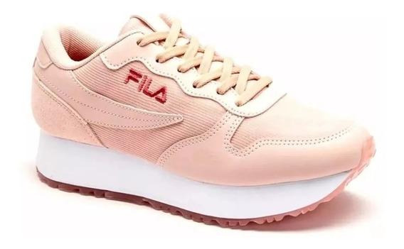 Zapatillas Fila Plataforma Euro Jogger Wedge Mujer Original
