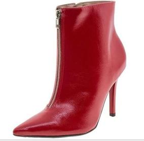 d299f0e3a Bota Cano Curto Vermelha - Botas para Feminino no Mercado Livre Brasil