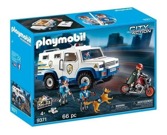 Playmobil Carro Forte Polícia Com Figuras - 9371