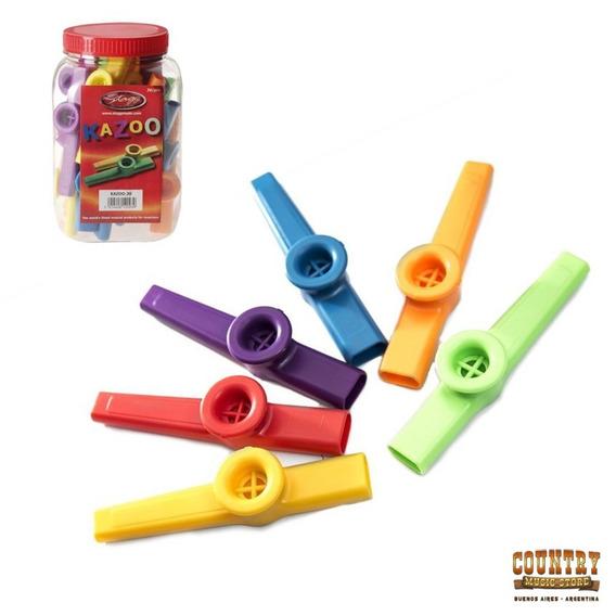 Kazoo Plastico Stagg Varios Colores 2 Registros X Unidad