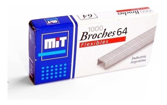 Broche Mit Para Abrochadora Nº64 X 1000 Broches Ganchitos