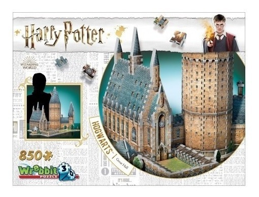 Harry Potter Puzzle 3d 850 Pçs - Hogwarts Salão Principal
