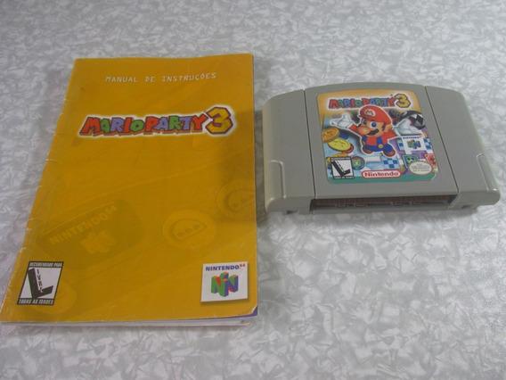 Nintendo 64 - Mario Party 3 C/ Manual - Original Nacional