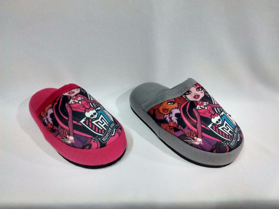 Monster High Pantuflas Para Niñas Talles Del 25/26 Al 29/30