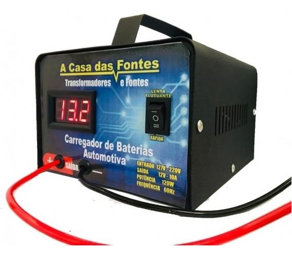 Carregador Bateria 20a Portatil Fonte Automotivo 12v Flutuan
