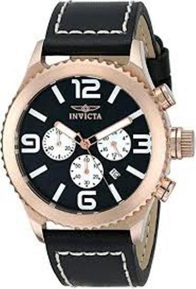 Relógio Invicta Importado Banhado A Ouro Rose 18k